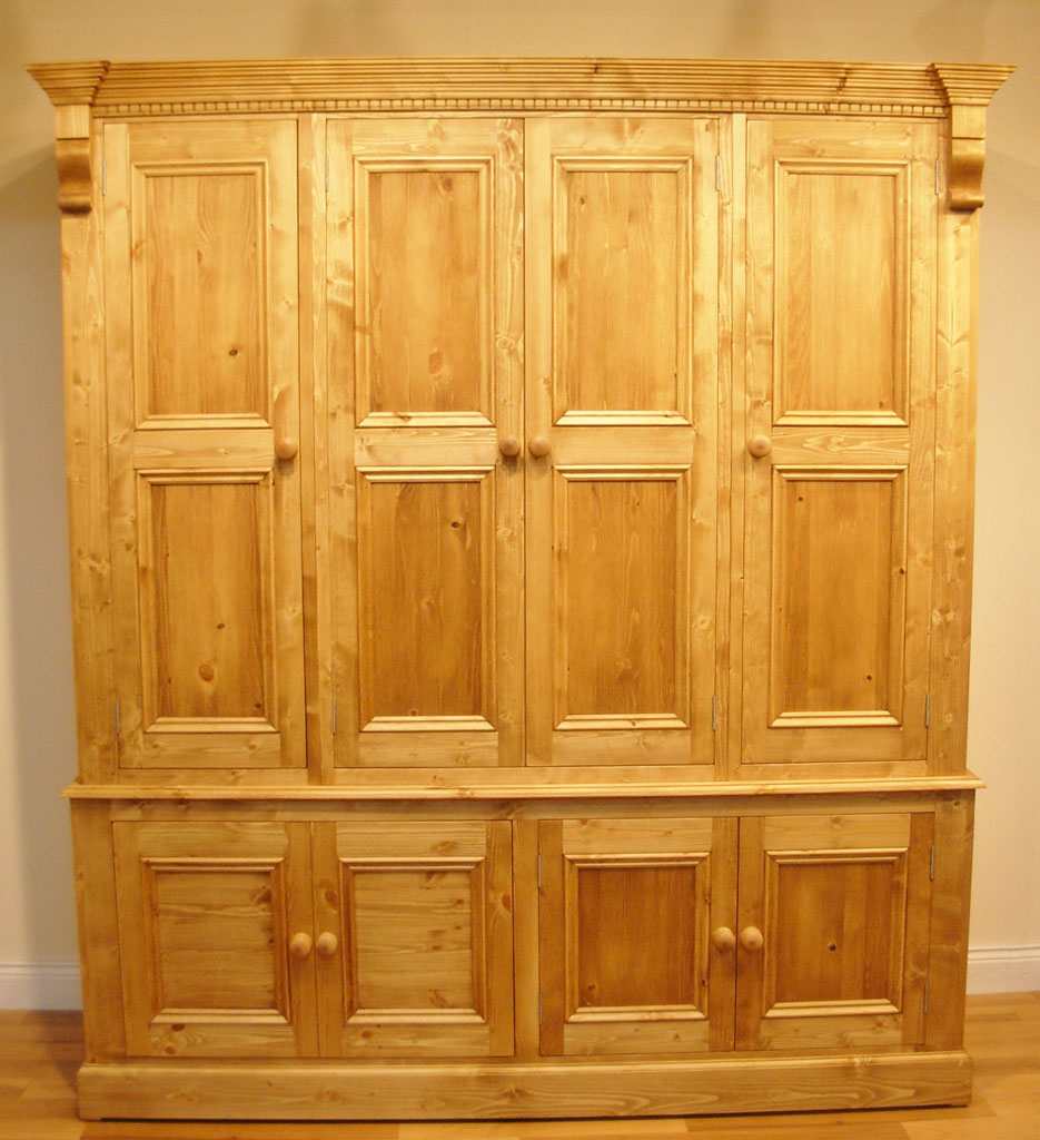 Deanery Bespoke Freestanding Waxed Pine Larder and Storage Unit