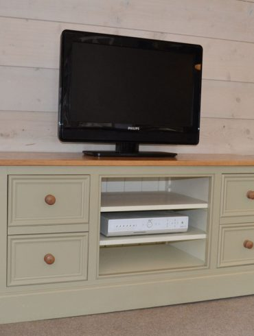Deanery provence Oak Top, Oak Knob TV Cabinet with hand-painted finish