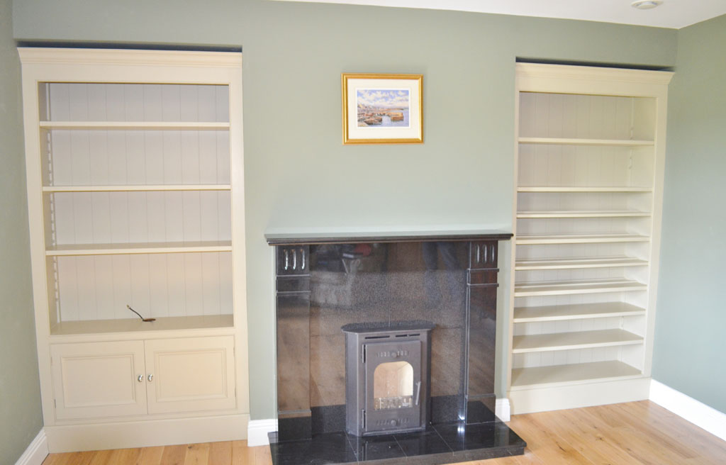 Deanery Bespoke Alcove TV Media Unit with hand-painted finish