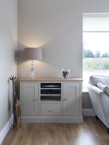 Deanery Bellaford Oak Top TV Cabinet with hand-painted finish