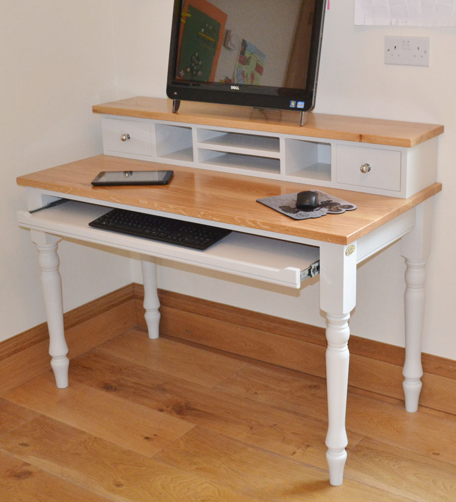 Deanery Oak Top Computer Desk
