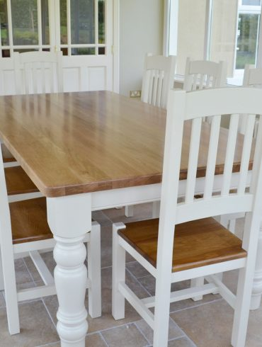 Deanery Farmhouse 8ftx4ft Oak Top Table with hand-painted finish
