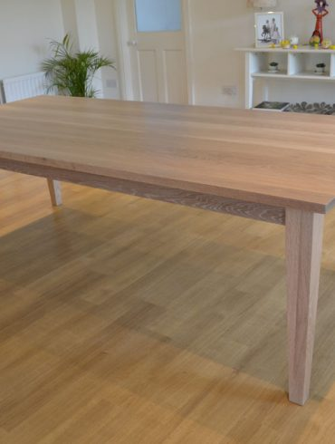 Deanery Large Oak Shaker Style Table with a Weathered Oak finish