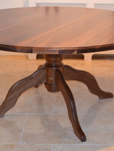 Deanery 5ft Solid Walnut Round Table with Pedestal Base