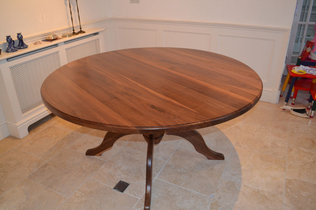 DRT3104 - Deanery 5ft Solid Walnut Round Table with Pedestal Base