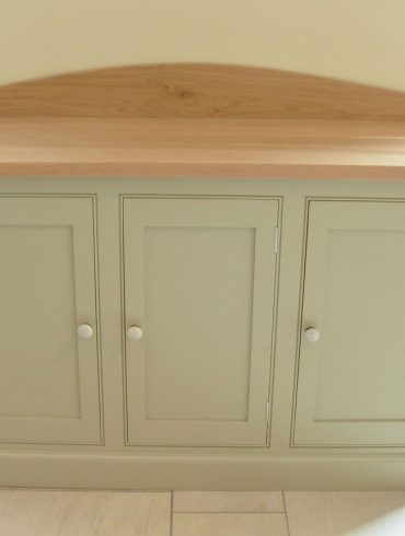 Deanery 5ft Oak Top, 3 Door Sideboard with hand-painted finish