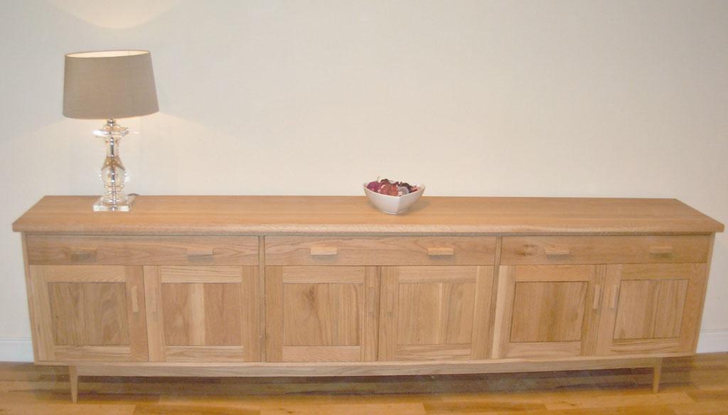 Deanery Long Bespoke Solid Oak Sideboard Deanery Furniture