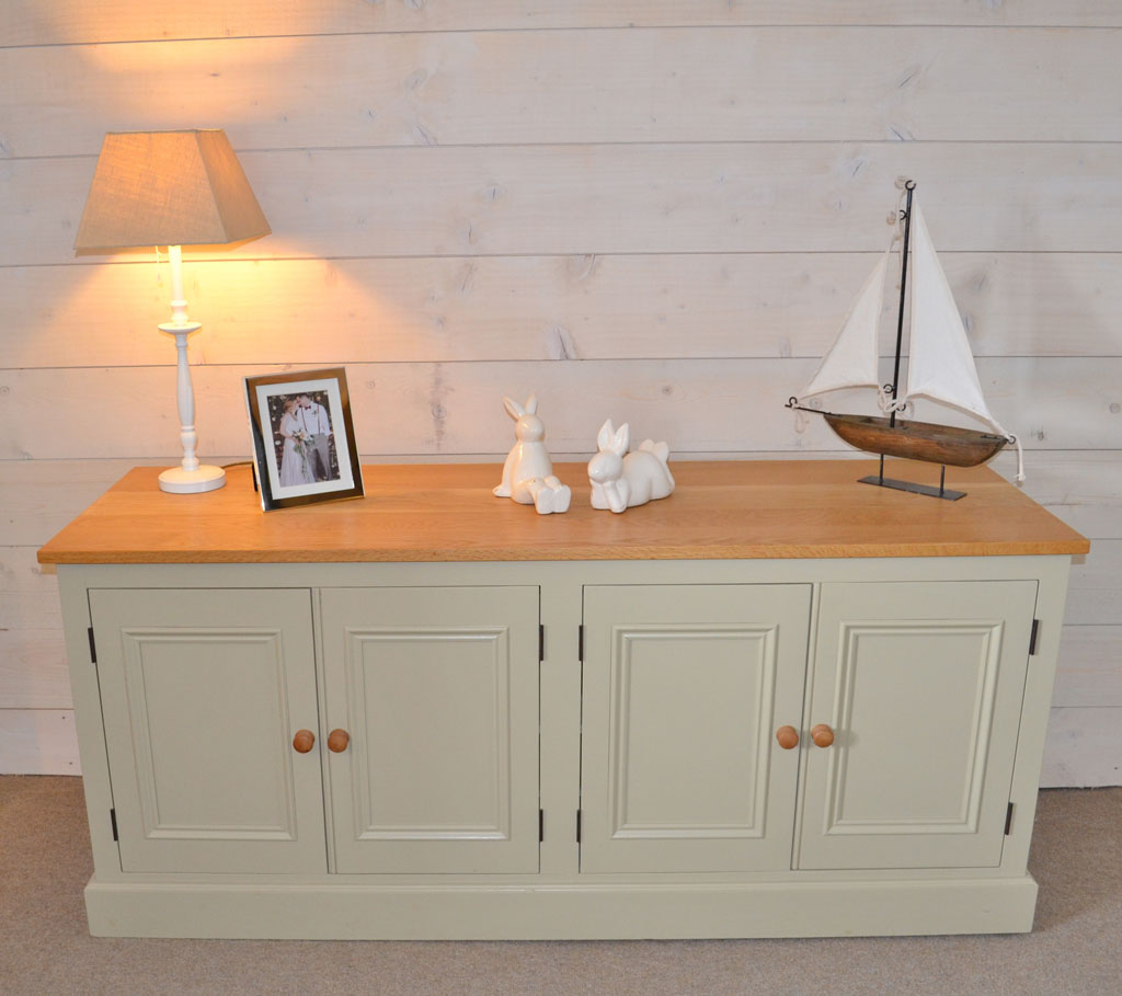 Deanery 6ft Cambridge Oak Top Dresser with hand-painted finish