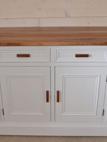 Deanery Clifton Walnut Top Dresser with hand-painted finish