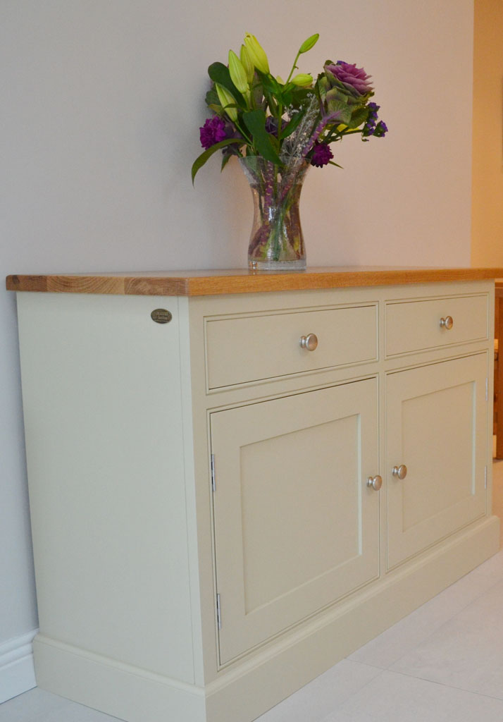 Deanery 4ft Cambridge Oak Top Sideboard with hand-painted finish