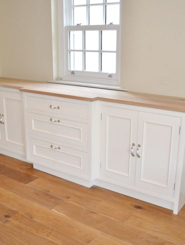 Deanery Large Fitted Oak Top Sideboard with hand-painted finish