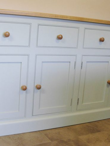 Deanery 6ft Solid Ash Sideboard with hand-painted finish