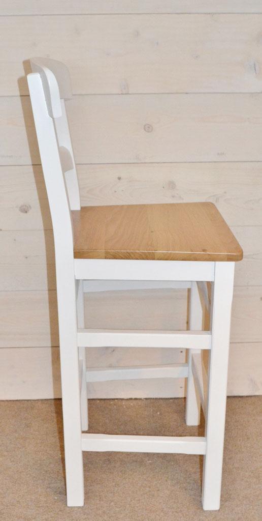 DST3280 - Parlour Hardwood Bar Stool, Seat choice: Solid Oak/Cream Leather/Black Leather