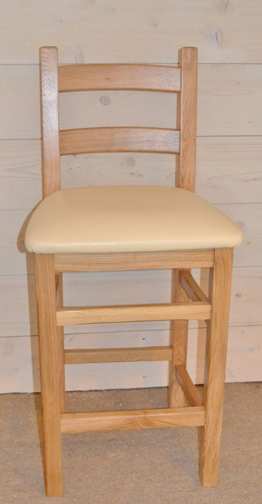 Crofter Hardwood Bar Stool Seat Choice Solid Oak Cream