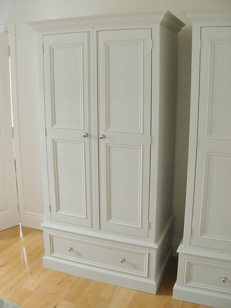 Deanery Narrow 2 Door Wardrobe with hand-painted finish - Deanery Furniture