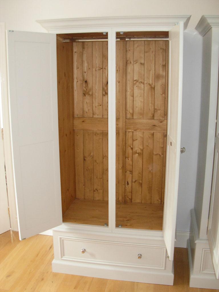 Deanery Narrow 2 Door Wardrobe With Hand-painted Finish
