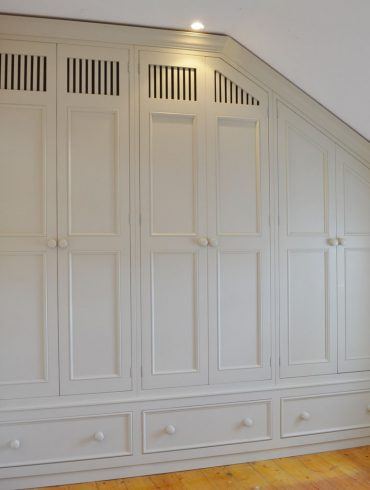 Deanery Fitted Dormer Style Wardrobe with hand-painted finish