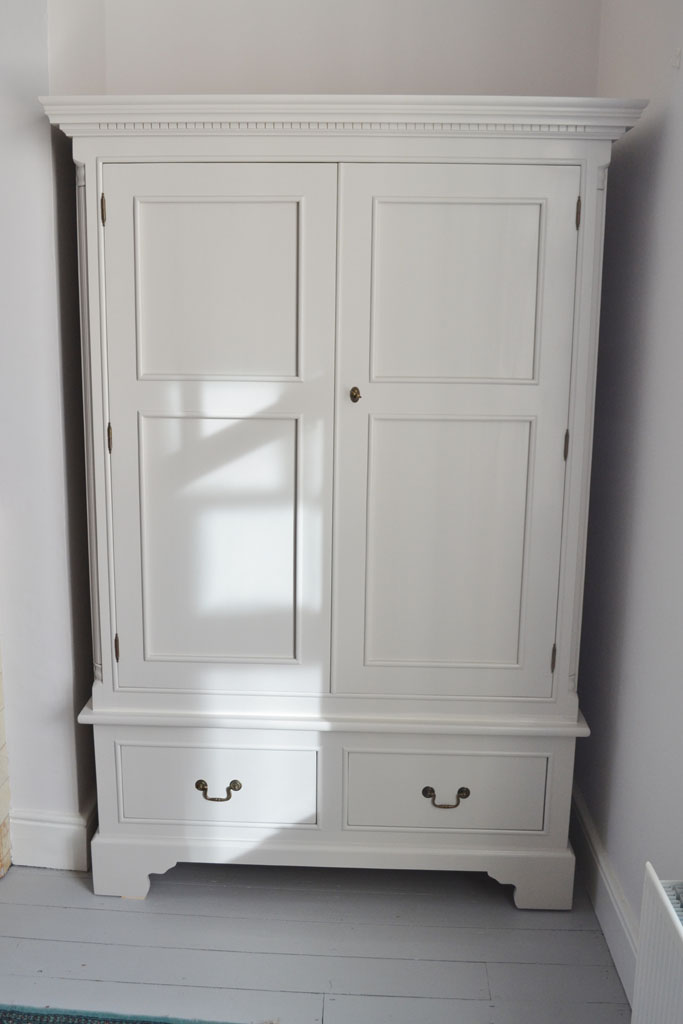 Georgian Double Wardrobe, hand-painted in F&B Cornford White