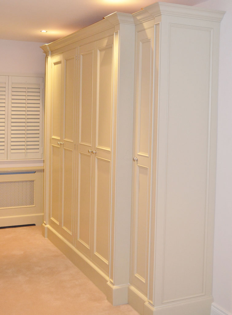 DWR5126 - Deanery Bespoke In-frame, Butt-hinged Fitted Wardrobes, hand-painted in F&B Paint