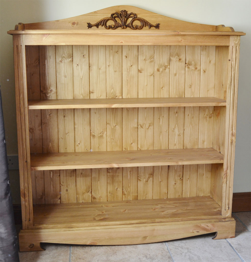 Deanery Low Pine Bookcase With Hand Waxed Finish Deanery