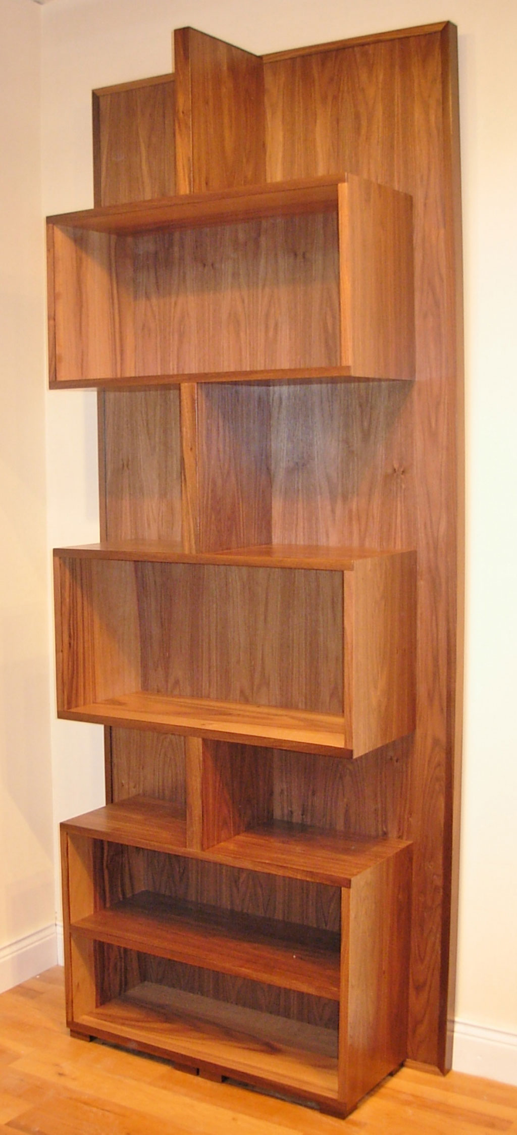 Deanery Contemporary Walnut Bookcase