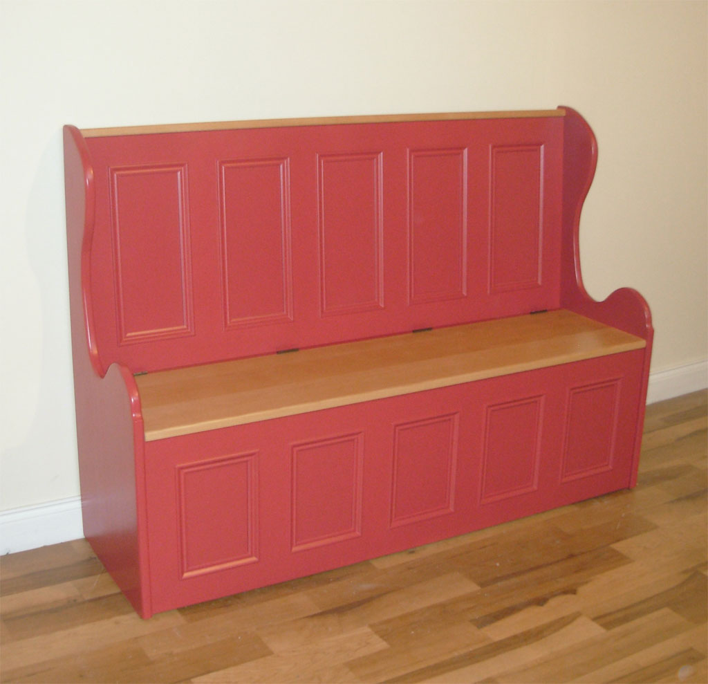 Deanery 6ft Monks Bench with solid Beech Top and hand-painted finish