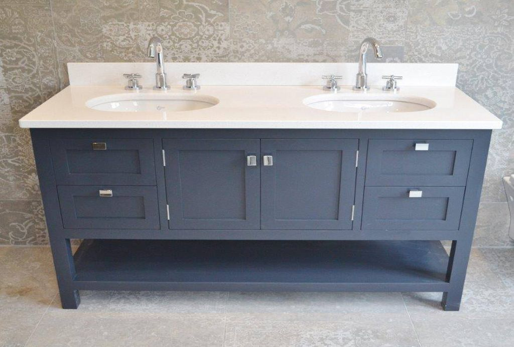 Genial Double Vanity Under Mounted Sink Cabinet DBR6017