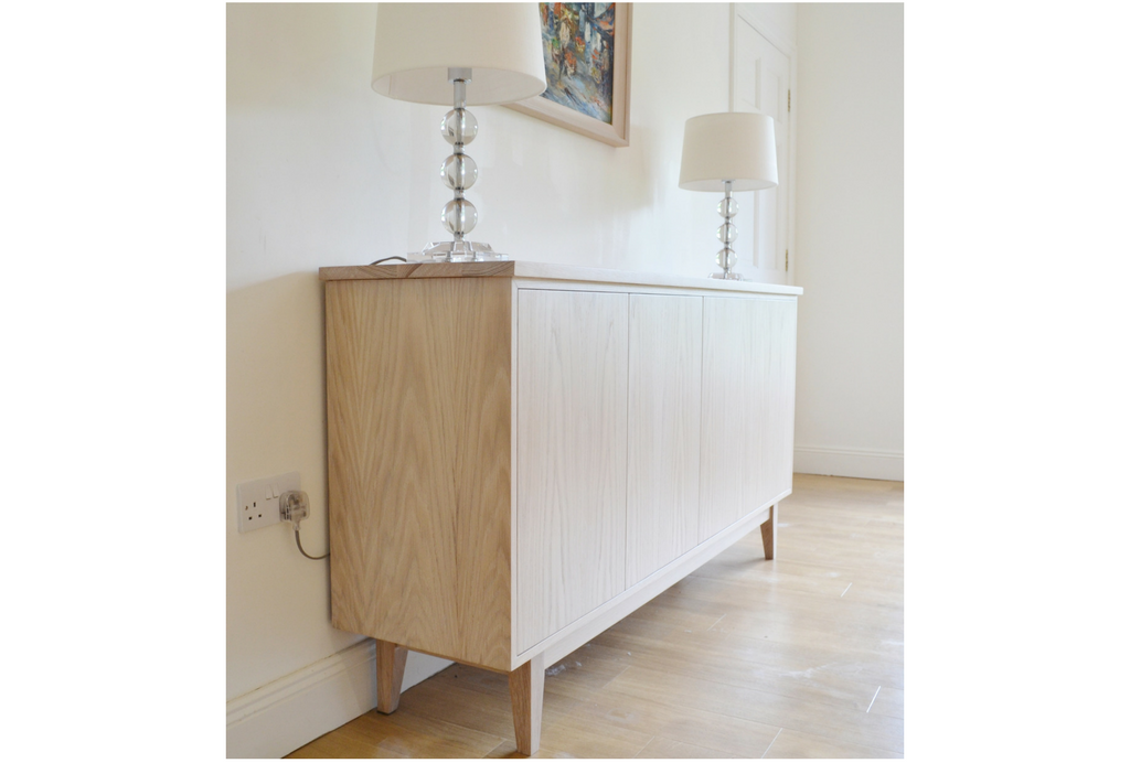 Contemporary Sideboard By Deanery Furniture In A Washed Oak Effect