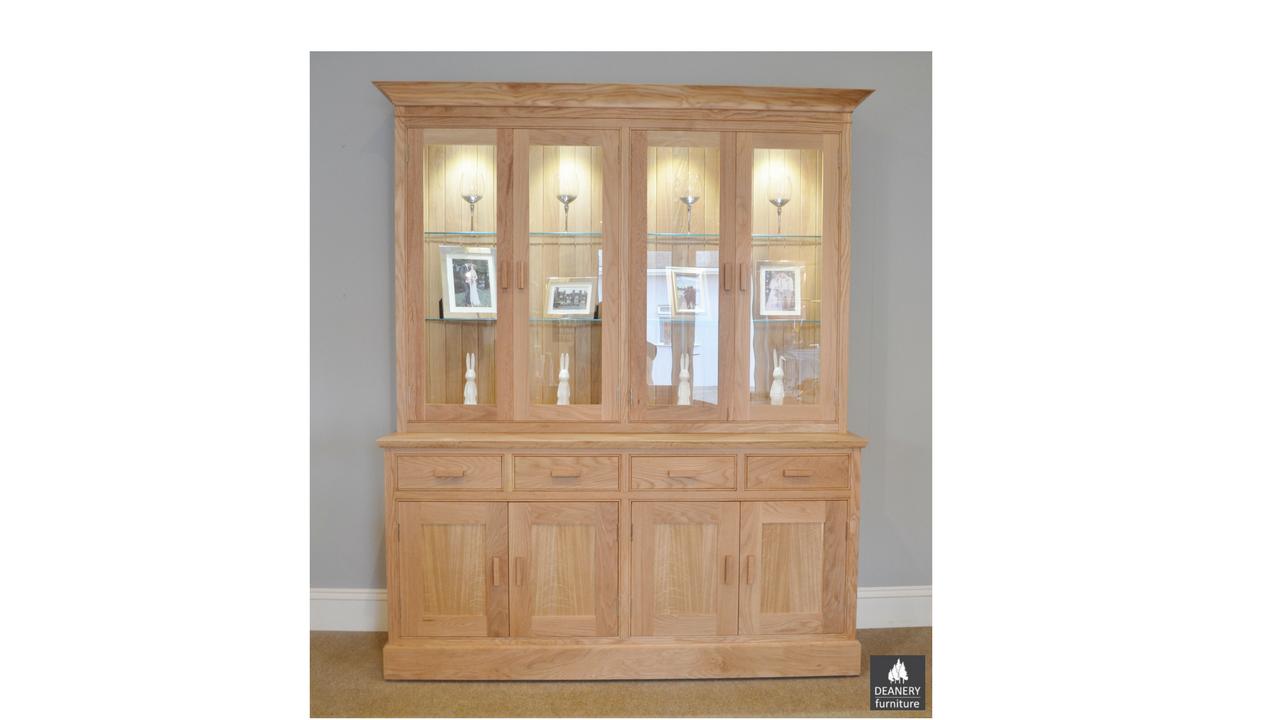 Deanery Glazed Bespoke Oak Dresser Deanery Furniture